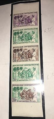 Central Africa 1967 92 Nurse Medical Vaccination Children Color Trial Proof