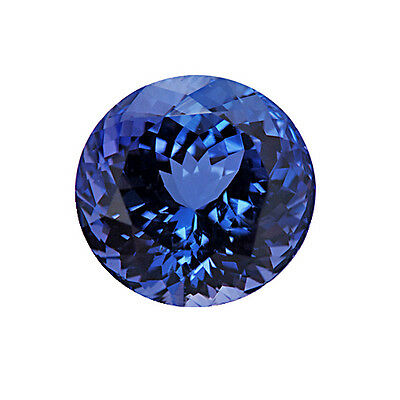 Brilliant Round Cut Blue AA Tanzanite 8mm 2.00 Carats Loose Gem Stone