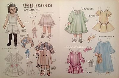 Vintage Pat Stall ANNIE FRANCES & her Frocks from 1911 Paper Doll Uncut