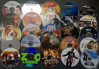 Wholesale Lot of 100 Used Assorted Bulk DVD Disc Only No Duplicate Alist tittles