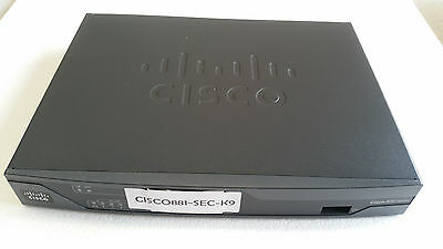 CISCO881-SEC-K9 Security Router + Console and Power Supply + Power Cable