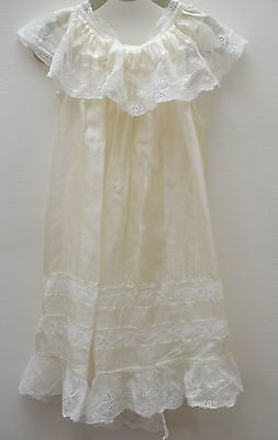 Exquisite Vintage Silk And Lace Christening Gown Overlay Ss300