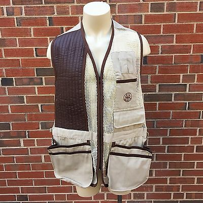 P Beretta Sport Mens Right Hand Size 54 Mesh Shooting Vest Made in Italy