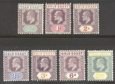 GOLD COAST #49-55 MINT - 1904 K E VII Set