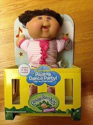 Cabbage Patch Kids Lil Dancer Pajama Dance Party Doll Brown Hair Eyes