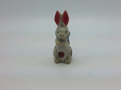 Bisque Easter Rabbit Bunny Figurine Upright w Bow JAPAN
