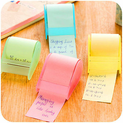 Creative Memo Sticky Notes Adhesive Paper Seat-type Message Reminder Note Roll