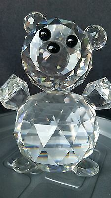 Swarovski Crystal King Bear Figurine MIB. Rarely Offered.