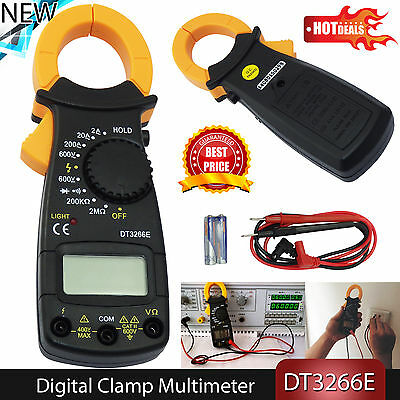 AC/DC Multimeter Electronic Tester Digital Clamp Meter Current Kit Resistance
