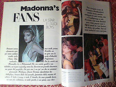 MADONNA by Herb Ritts 1985  Ultra RARE talian Magazine LEI Glamour