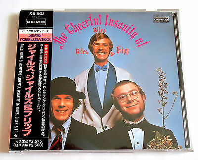 GILES, GILES & FRIPP The Cheerful Insanity JAPAN CD w/OBI 1989 P25L King Crimson