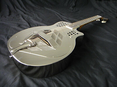 Tri Cone Resophonic Resonator Guitar - Triple Plated Brass Body