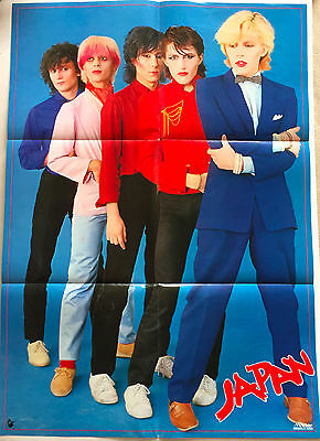 JAPAN VICTOR OFFICIAL POSTER David Sylvian Mick Karn Steve Jansen