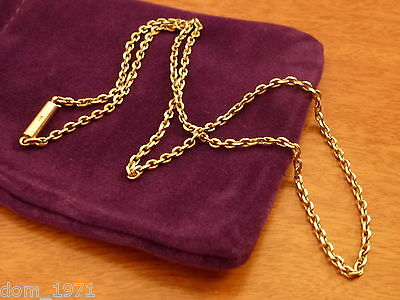 9k 9ct Solid Gold Strong Chain Necklace. Barrel Clasp 2.1mm 41cm 5.31g