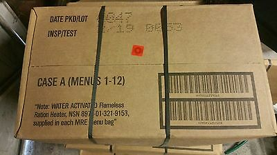 Full box A (1-12 menus) MRE Genuine U.S. Army Surplus best before 05-2019