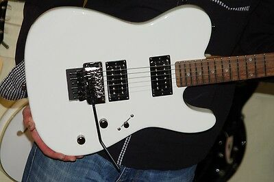 G&l-George And Leo-Tribute Series Asat*2Hb*white Tele Style*floyd Rose Tremolo