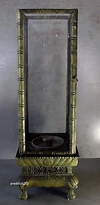 Early 20Th Century Chinese Oxidized Brass Table Lantern In 18Th/19Th C. Style