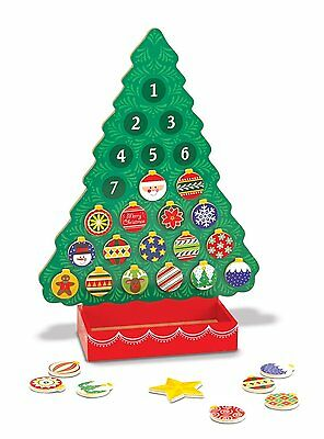 NEW Countdown to Christmas Wooden Advent Calendar KIDS HOLIDAY FUN FREE SHIP