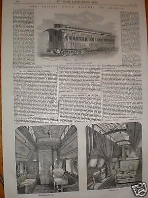 USA Pacific Union Railway Pullman interior prints 1869