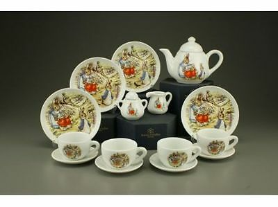 Reutter Porcelain Beatrix Potter Children`s Miniature Tea Set in box  23162