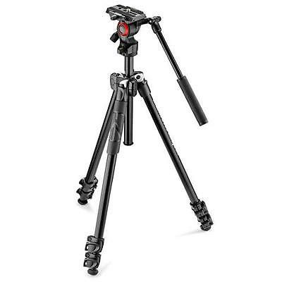 Manfrotto 290 Light Alu Tripod with Befree Live Fluid Video Head Kit