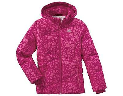Size 11/12 Years Old - Adidas Padded Aop Girls Hooded Jacket - Pink
