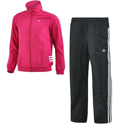 Size 13-14 Years Extra-Small - Adidas Climacool 3 Stripe Full Zip Tracksuit Pink