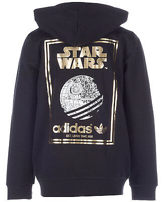 Size 11/12 - Limited Edition - Adidas Originals Star Wars Hooded Top - Black