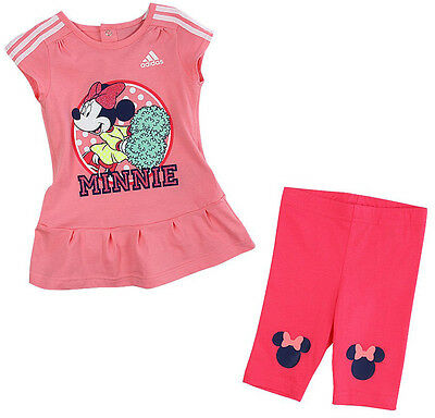Size 2-3 Years - Adidas Originals Disney Minnie Mouse Dress With Pant Set