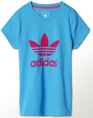 Size 4/5 Years - Adidas Originals J Trefoil Tee G - Blue