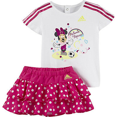 Size 3/6 Months - Adidas Originals Disney Minnie Mouse Top With Skirt Set