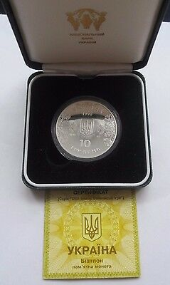 Ukraine Silver 1oz 1998 Olymic Games Proof coin 10 Hryvnia