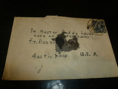 American Barracks Tientsin Fort Benning Captain Lucas Chinese China Stamp Cover