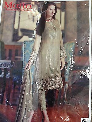 Womens grey sequin semi stitched indian suit