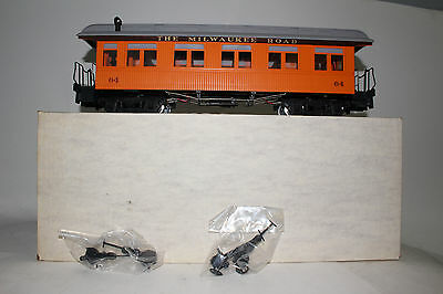 Delton G Scale #3284M Milwaukee Road Observation Passenger Car, Lighted, Boxed