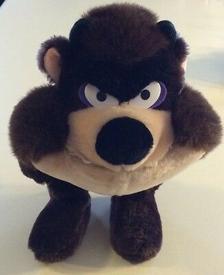 "Vintage Looney Tunes Taz Tasmanian Devil Plush 11"" Warner Bros. 1990"