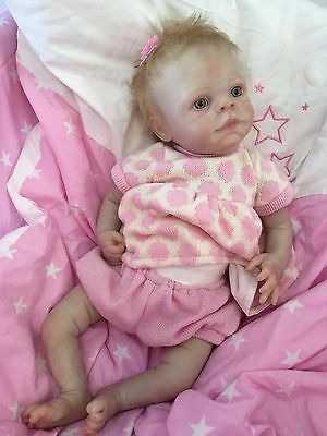 """Reborn Doll Baby Girl Abigail Realistic 16""""  Real Lifelike Rooted Blonde Hair"""