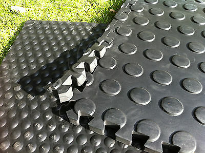 Pack of 6 Horse Stable Mats Flooring Bedding - 22mm Thick EVA Foam - Dotted