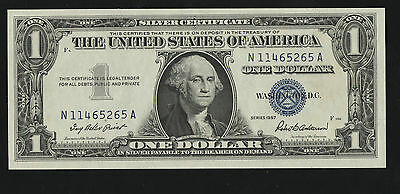 1957  1 Dollar Silver Certificate Banknote---Mint Unc