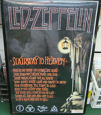 Led Zeppelin Poster Stairway To Heaven Rare New  Mid 2000's Vintage Page Plant