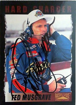 1996 Pinnacle Racers Choice Ted Musgrave Autographed Card No.64