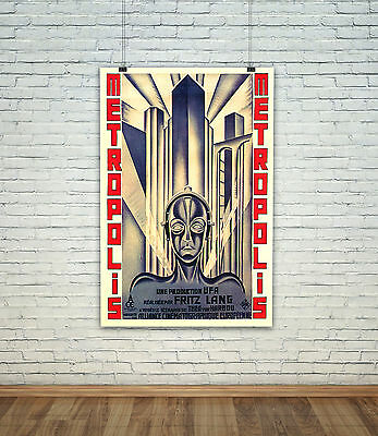 Metropolis Retro Vintage Movie Poster Photo All Sizes Repro : #UC1499