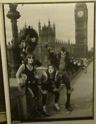 Kiss Poster Live New Never Opened Mid 2000's Vintage London 1976