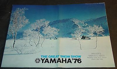 "HUGE 1976 YAMAHA SNOWMOBILE SALES BROCHURE SRX LARGE 11"" x 14""   24 PAGES (370)"