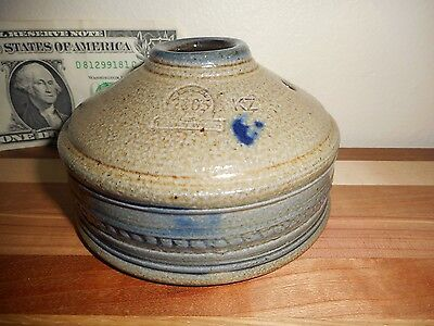 """2005 Rowe Pottery Historical Collectible 4.25"""" X 2.5"""" Cobalt-Glaze Inkwell"""
