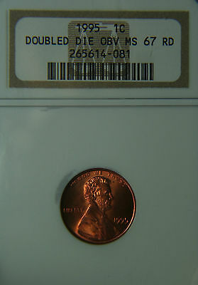 1995 Doubled Die Obverse Lincoln One Cent NGC MS67 RED