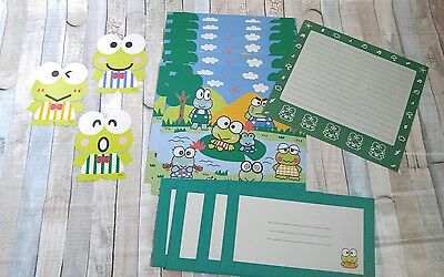 Vintage 1996 Sanrio Keroppi Sationary and Stickers Collectible Gift SHIPS FREE