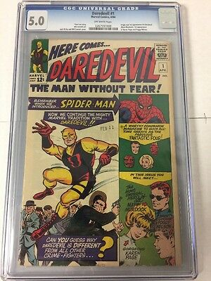 Daredevil 1 Cgc 5.0 Off White Pages 1St Daredevil Great Pictures!