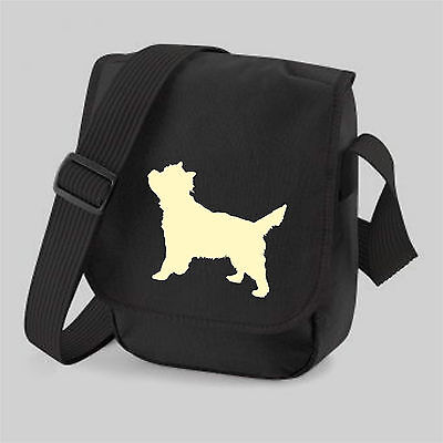 Cairn Terrier Dog Bag Silhouette Reporter Shoulder Bags Birthday Xmas Gift