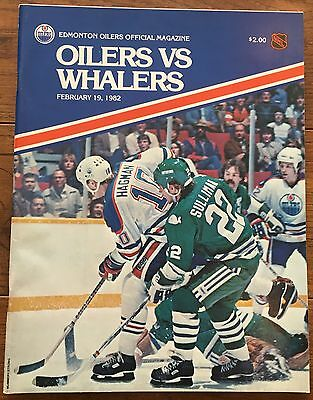 NHL Program HARTFORD WHALERS vs EDMONTON OILERS-Feb 19/82-GRETZKY POINTS RECORD